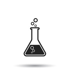 Chemical test tube pictogram icon chemical lab vector
