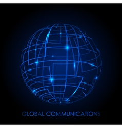 Global communications - background vector image