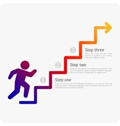 Infographics man walking on stairs vector image vector image