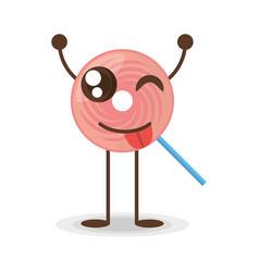 kawaii lollipop candy sweet vector image