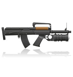 machine gun with a grenade launcher vector image vector image