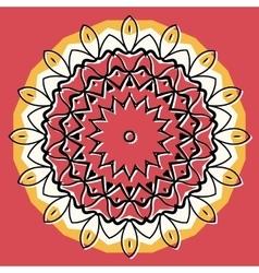 Mandala on round background vector image