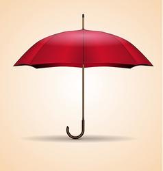 Red umbrella vector image