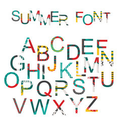summer font in hand drawn style decorated in vector image vector image