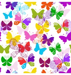 01Spring seamless white pattern vector image vector image