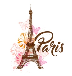 Abstract background with Eiffel tower vector image vector image