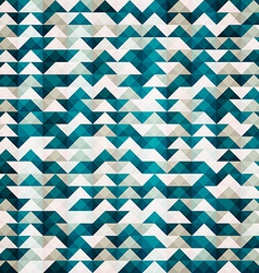 abstract blue triangle seamless pattern vector image vector image