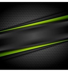 Dark green black tech abstract background vector image vector image