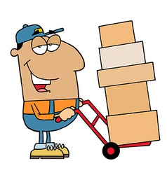 Friendly Hispanic Delivery Man vector image vector image