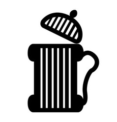 old wooden beer mug icon vector image