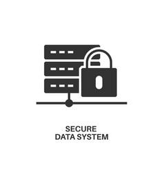 secure data system icon vector image vector image