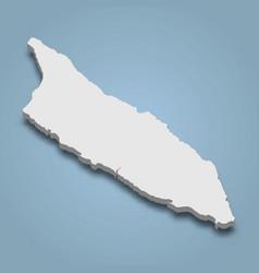 3d isometric map aruba is an island vector