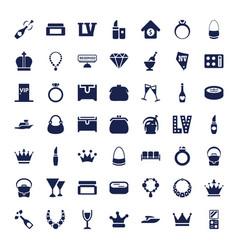 49 luxury icons vector