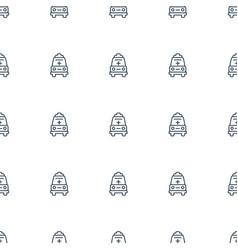 ambulance icon pattern seamless white background vector image
