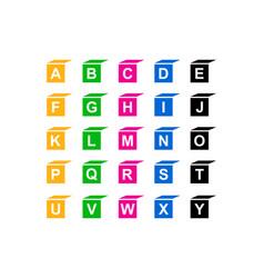 baby blocks alphabet collection vector image