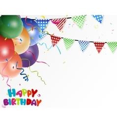 Birthday celebration background vector