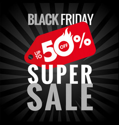 black friday super sale up to 50 vector image