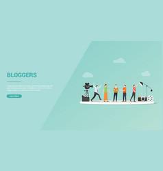 blogger job profession or video log vlogger for vector image