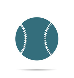 blue baseball ball icon isolated on background mo vector image