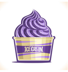 Blueberry ice cream vector