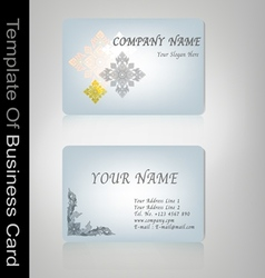 business card Thai style vector image vector image