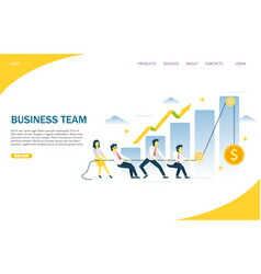 Business team website landing page design vector