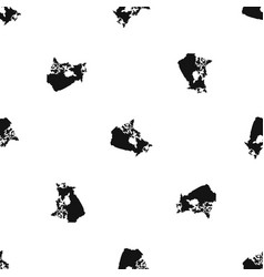 Canada map pattern seamless black vector