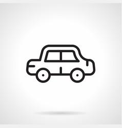 car simple line icon vector image