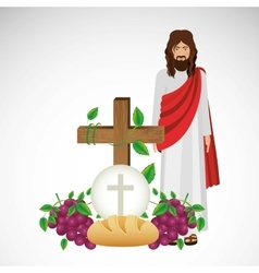 catholic religion design vector image