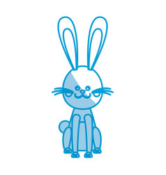 Character easter rabbit happy celebration vector