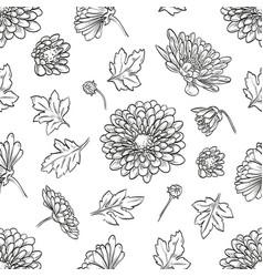 Chrysanthemum seamless pattern vector