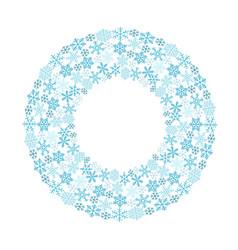 circular pattern of snowflakes vector image