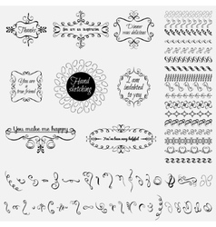 Collection of hand-drawn elements vector