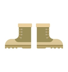 Combat military boots vector