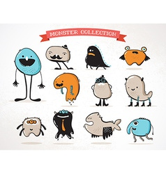 cute monsters set of vector image
