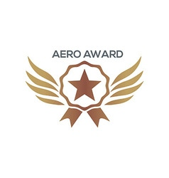 Design aero awards star wings icon vector