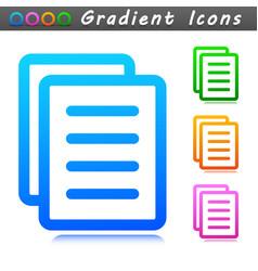 document symbol icon sign vector image