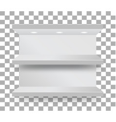empty bunk shelf in a supermarket on transparent vector image