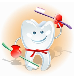 Fighting tooth vector