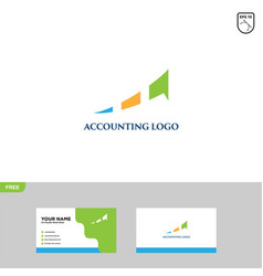 financial logo template accounting logo template vector image