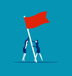 flag as a symbol success and heights people vector image