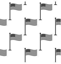 flag of usa on flagpole icon seamless pattern vector image