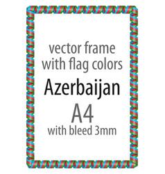 Flag v12 azerbaijan vector