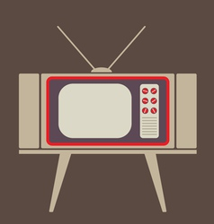 Flat Design Vintage TV vector image
