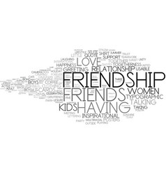 friendship word cloud concept vector image