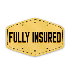 Fully insured label or sticker vector