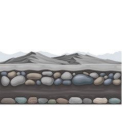 Game platform with rocky mountain peaks vector