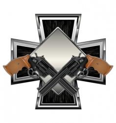 Guns on cross vector