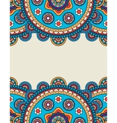Indian doodle floral borders frame vector image