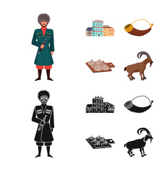 Isolated object of culture and sightseeing icon vector
